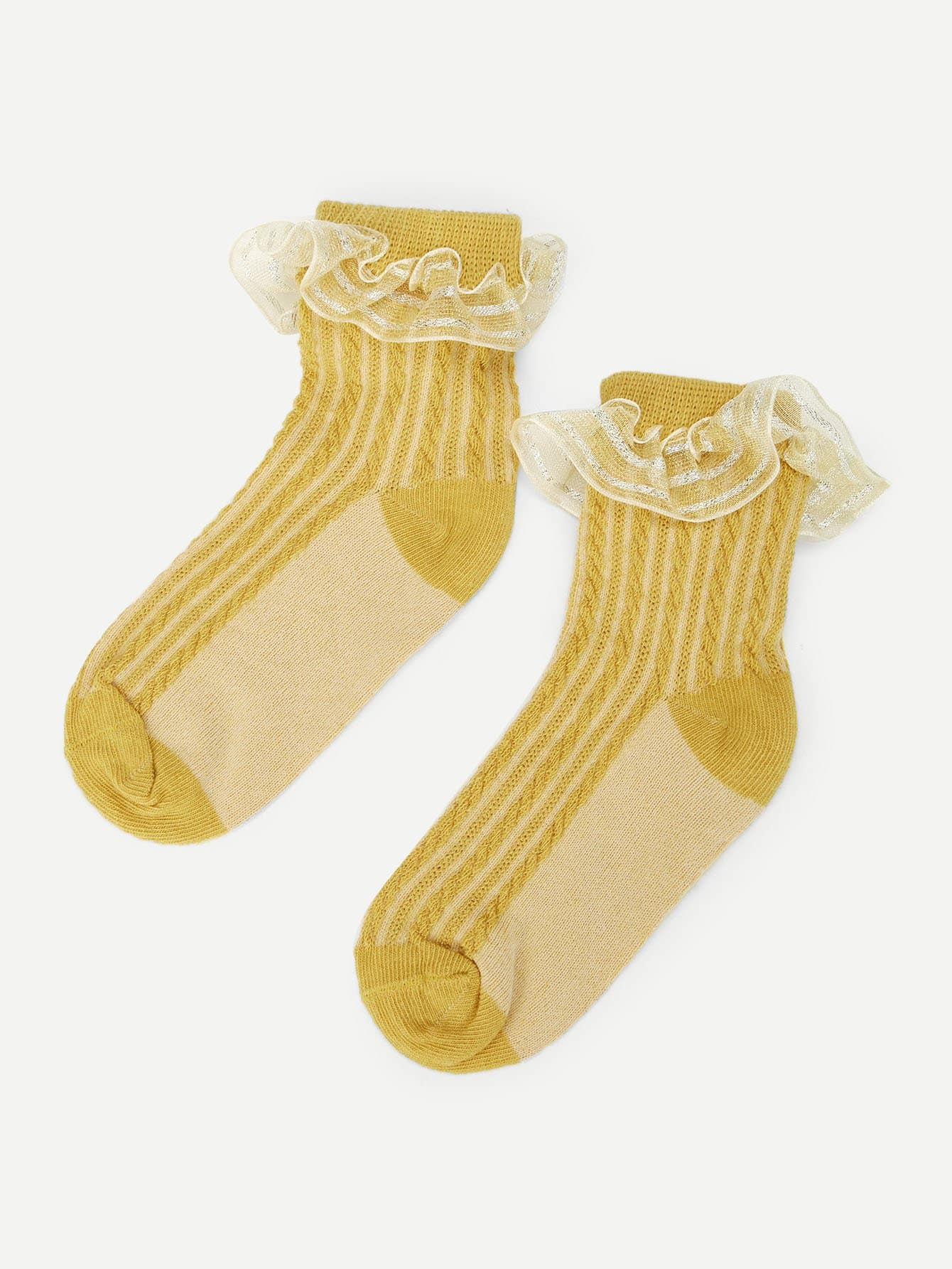 Girls Flounce Panel Socks