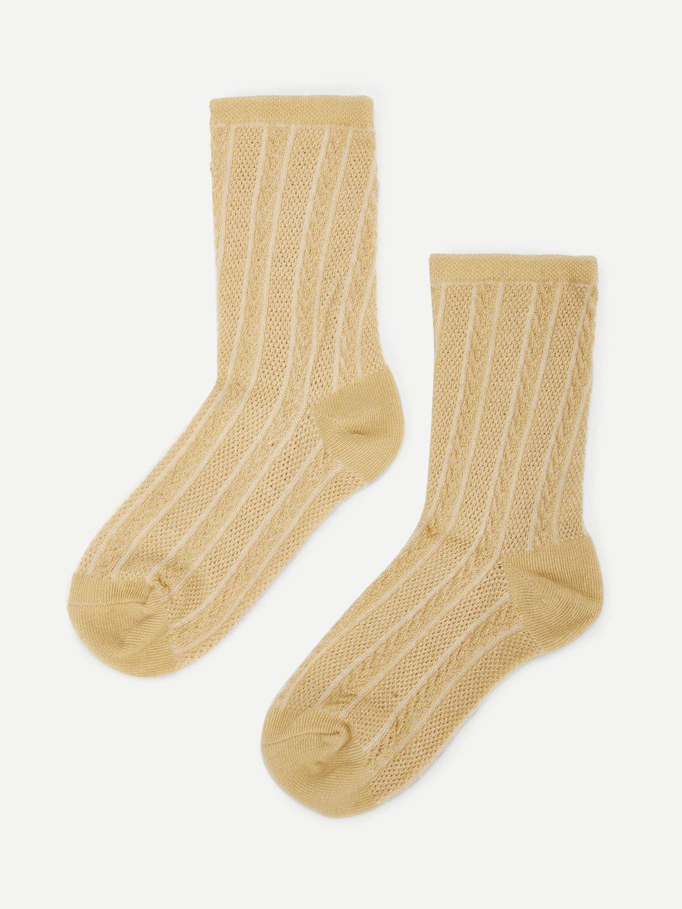 Купить Желтовато бурый Детские носки и колготки, null, SheIn