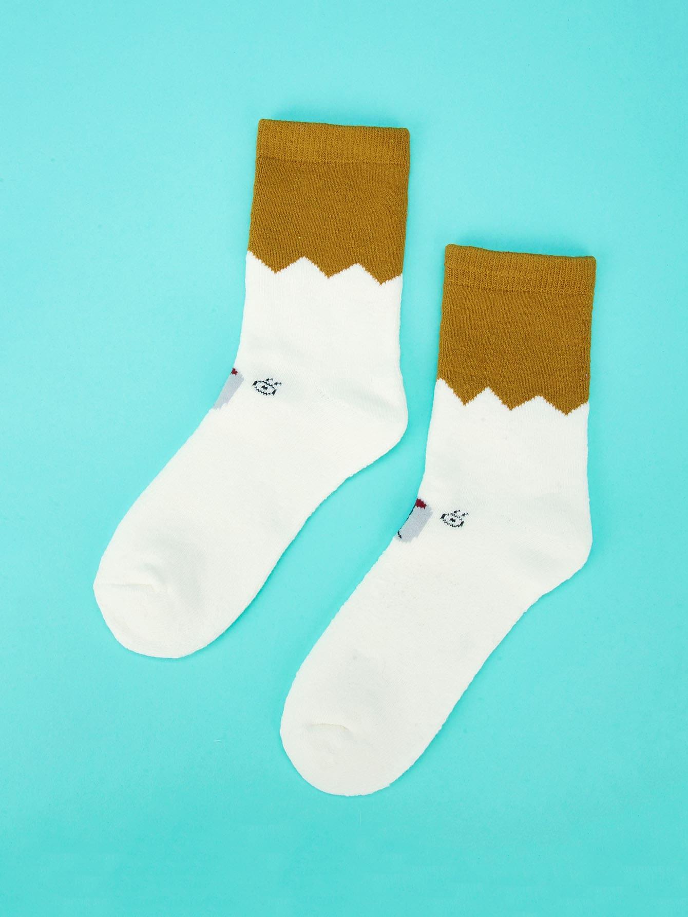 Girls Two Tone Socks
