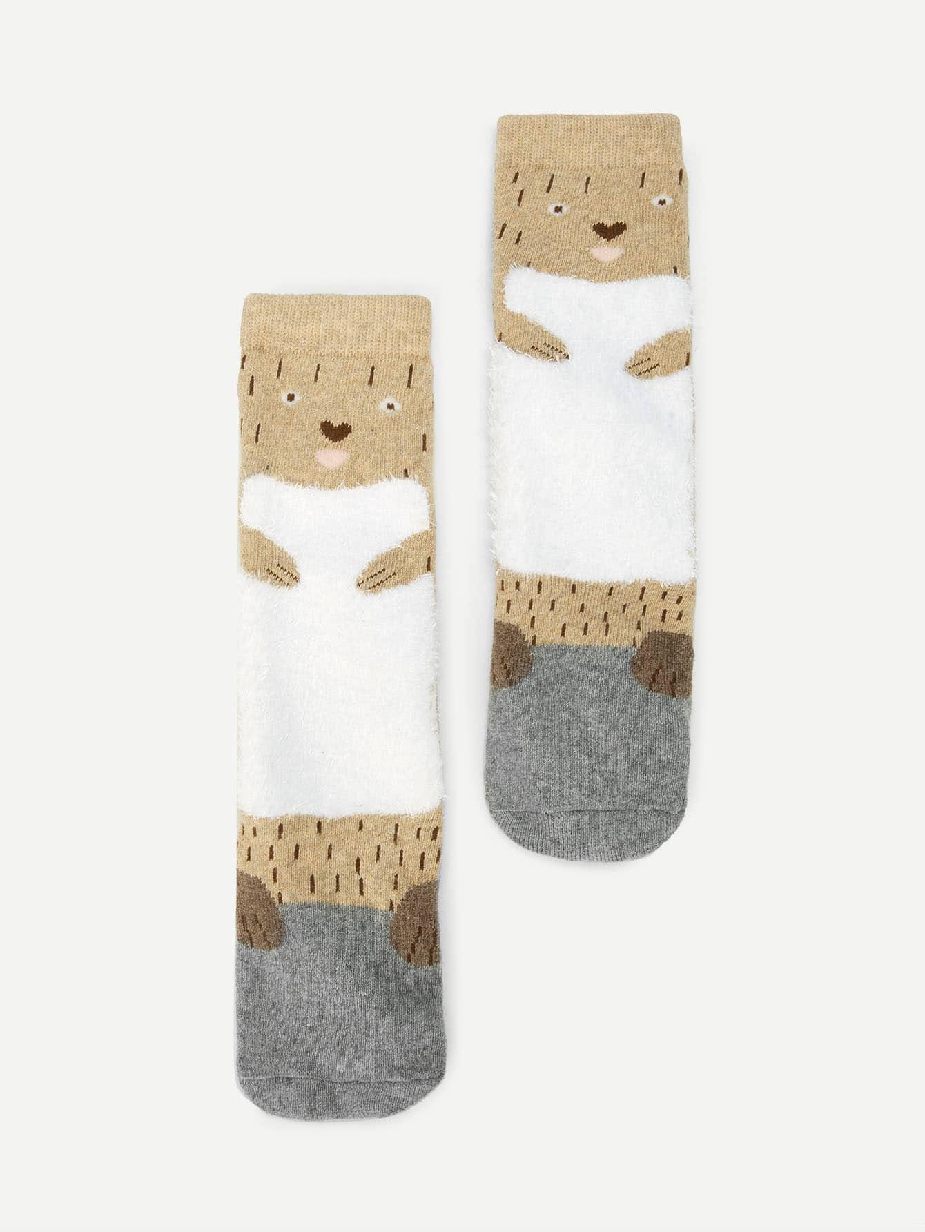 Купить Мультяшный принт Многоцветный Детские носки и колготки, null, SheIn