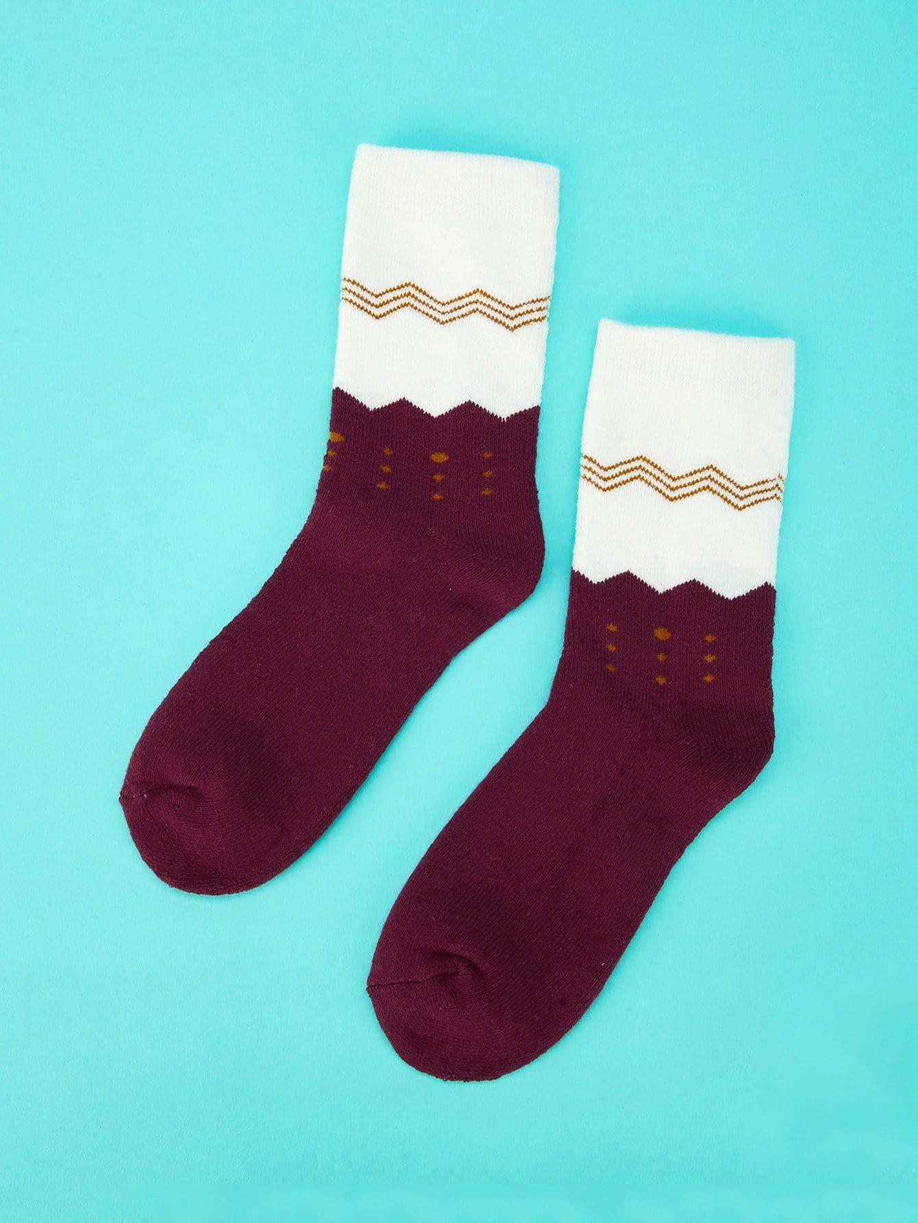 Купить Бургундия Детские носки и колготки, null, SheIn