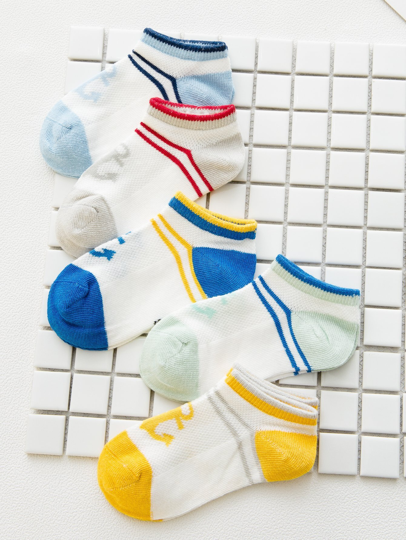 Kids Striped Colorblock Socks 5pairs