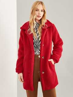 Pocket Front Teddy Coat