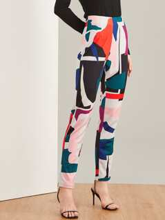 Color Block Straight Leg Pants