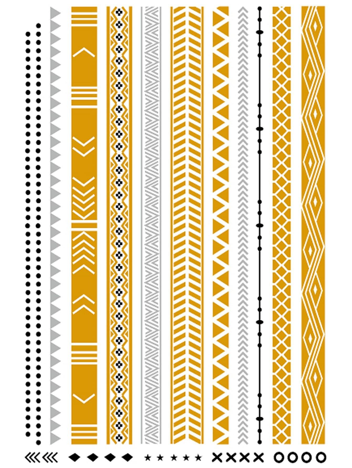 Geometric Pattern Strip Tattoo Sticker