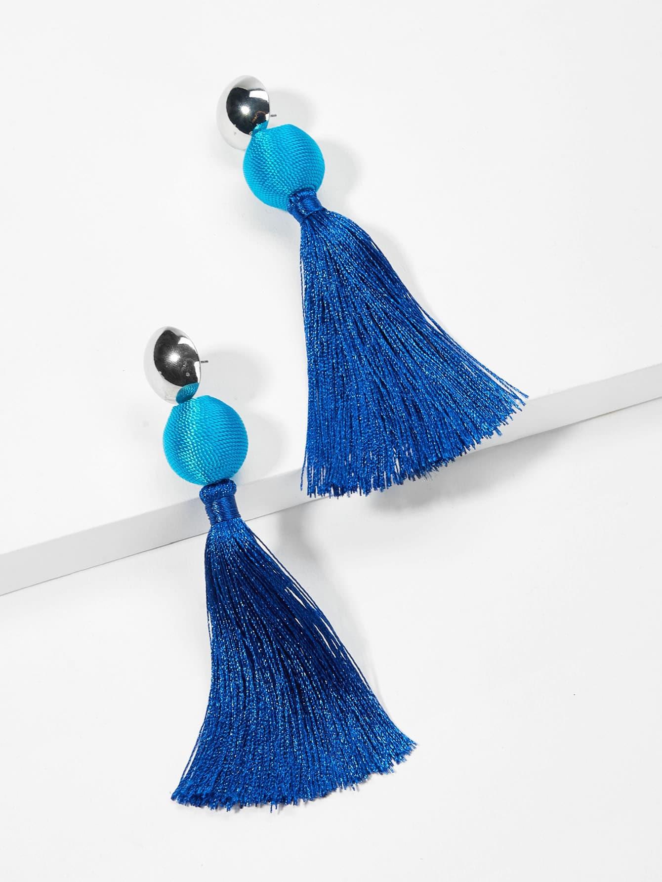 Ball Design Tassel Drop Earrings устройство зарядное цифровое autoprofi агрессор agr sbc 150 start 9 фаз зарядки ток 2 6 10 15 а