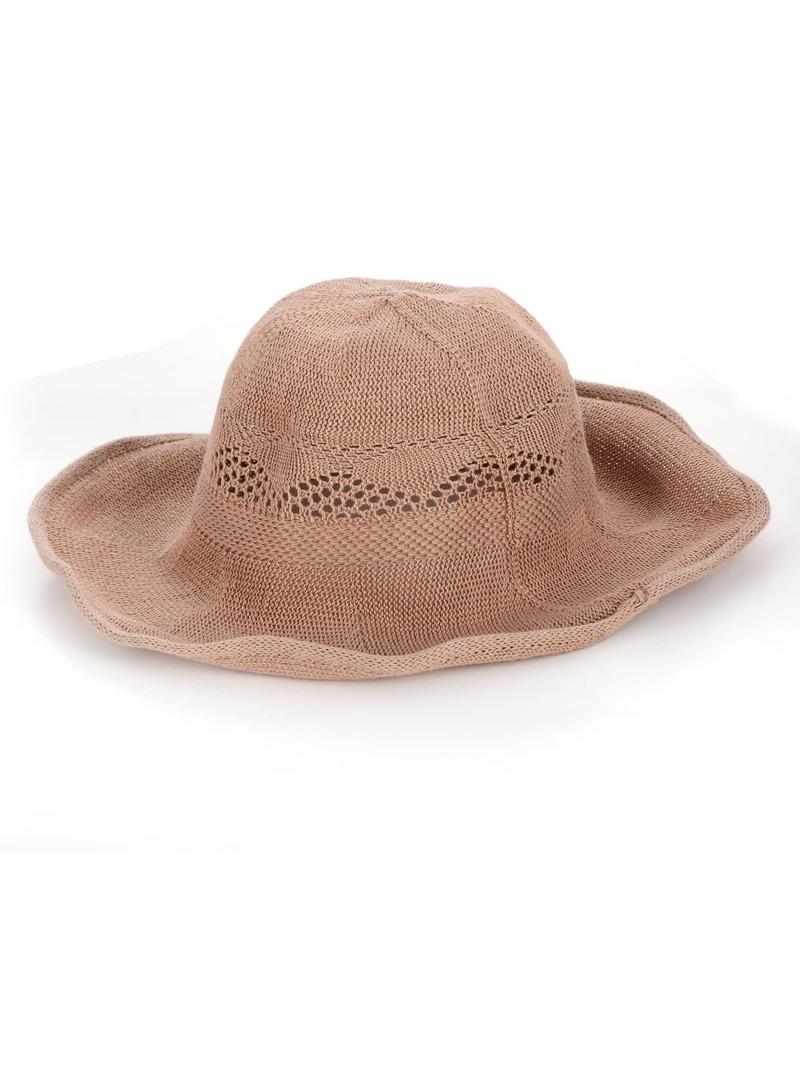 Wide Brim Straw Floppy Hat, Pink