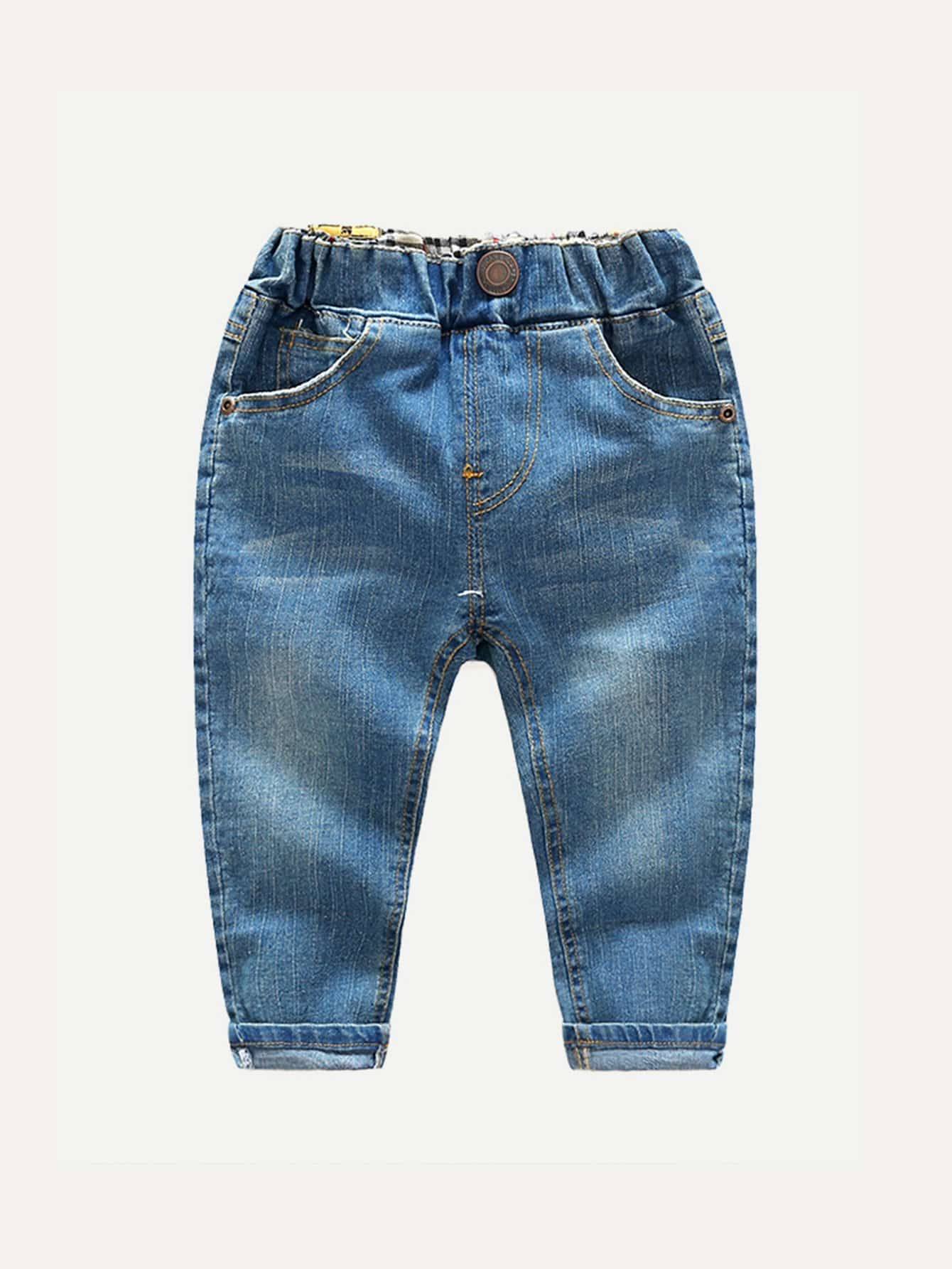Boys Solid Jeans null