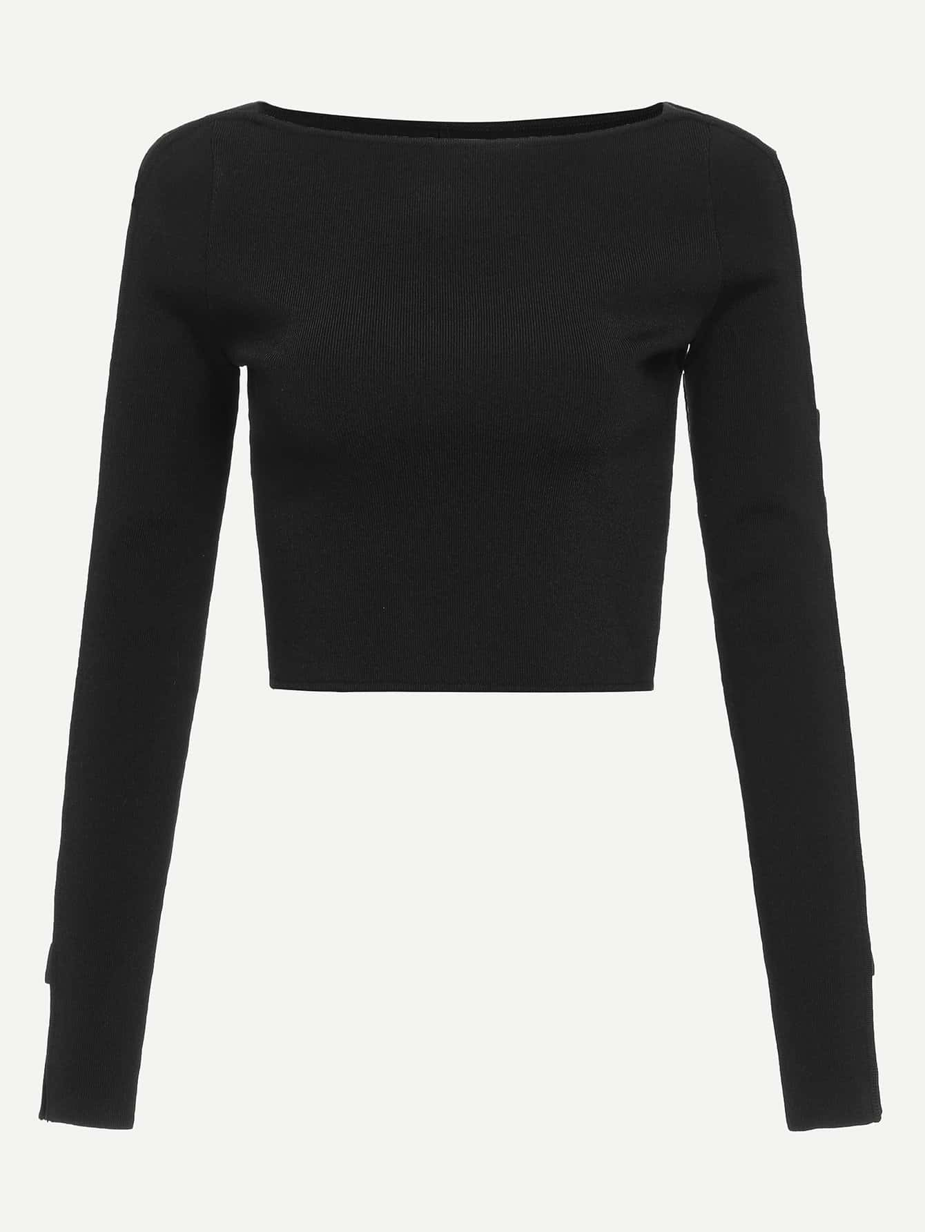 Slim Fitted Solid Jumper