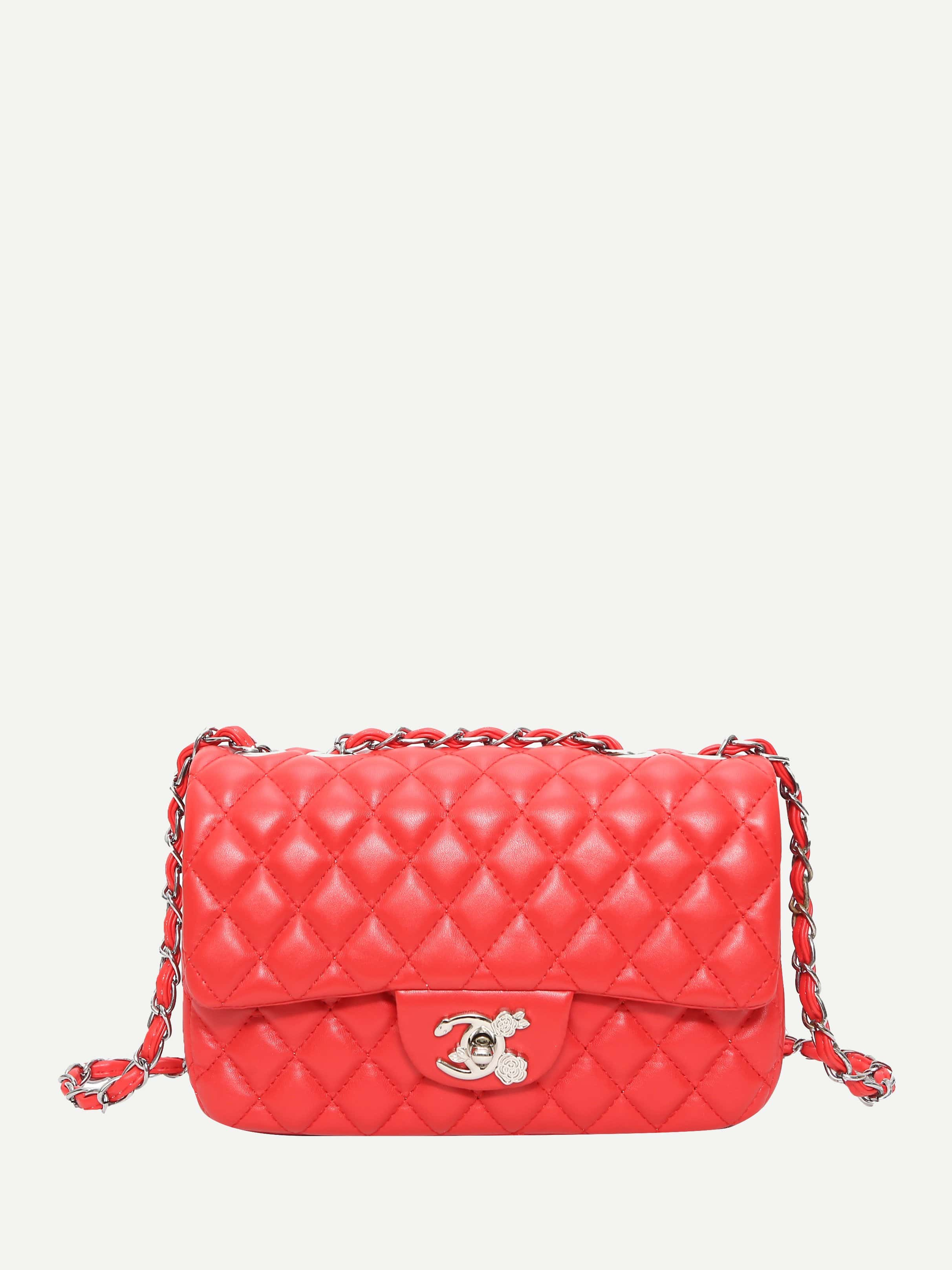 Quilted Detail Chain Bag цены