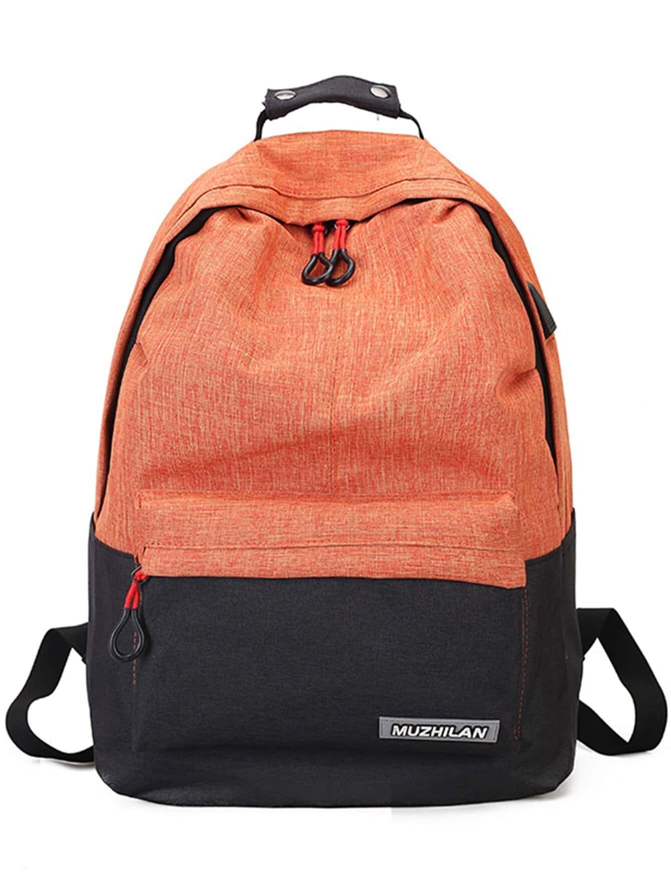 Купить Повседневный оранжевый Рюкзаки, null, SheIn