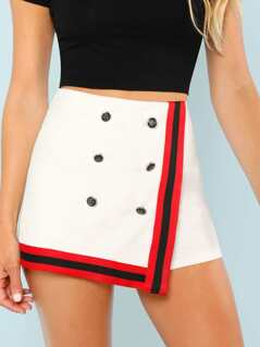 Decorative Button Skort