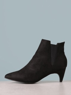 Faux Suede Pointed Booties