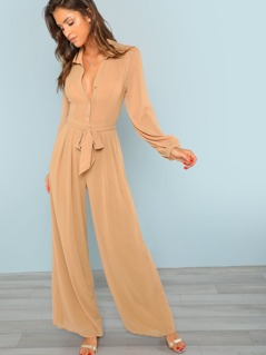 Chiffon Long Sleeve Jumpsuits