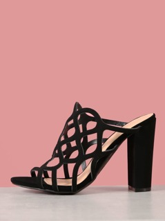 Caged Cut Out Heels