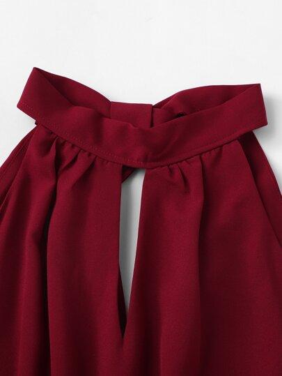 Drawstring Waist Knot Back Jumpsuit