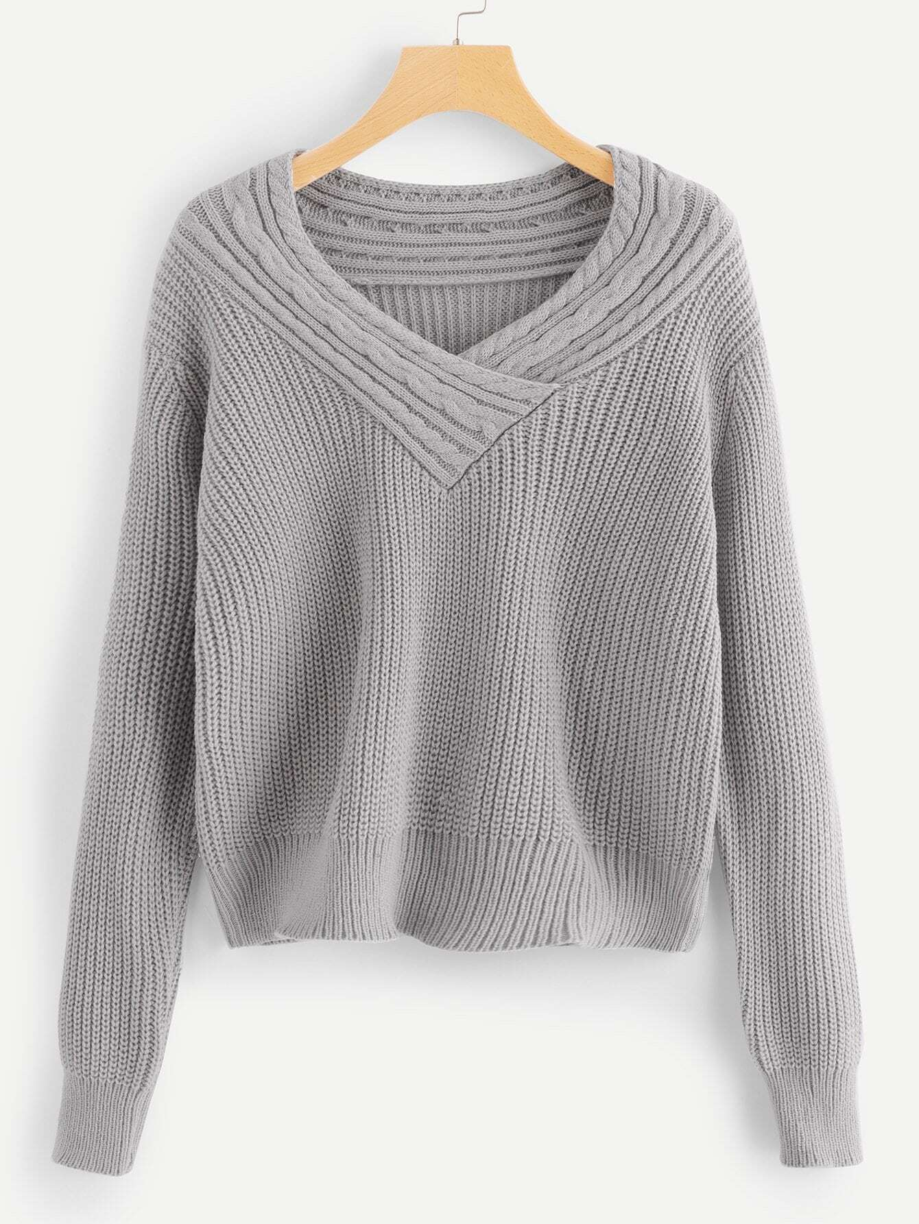 Cable Knit Solid Sweater