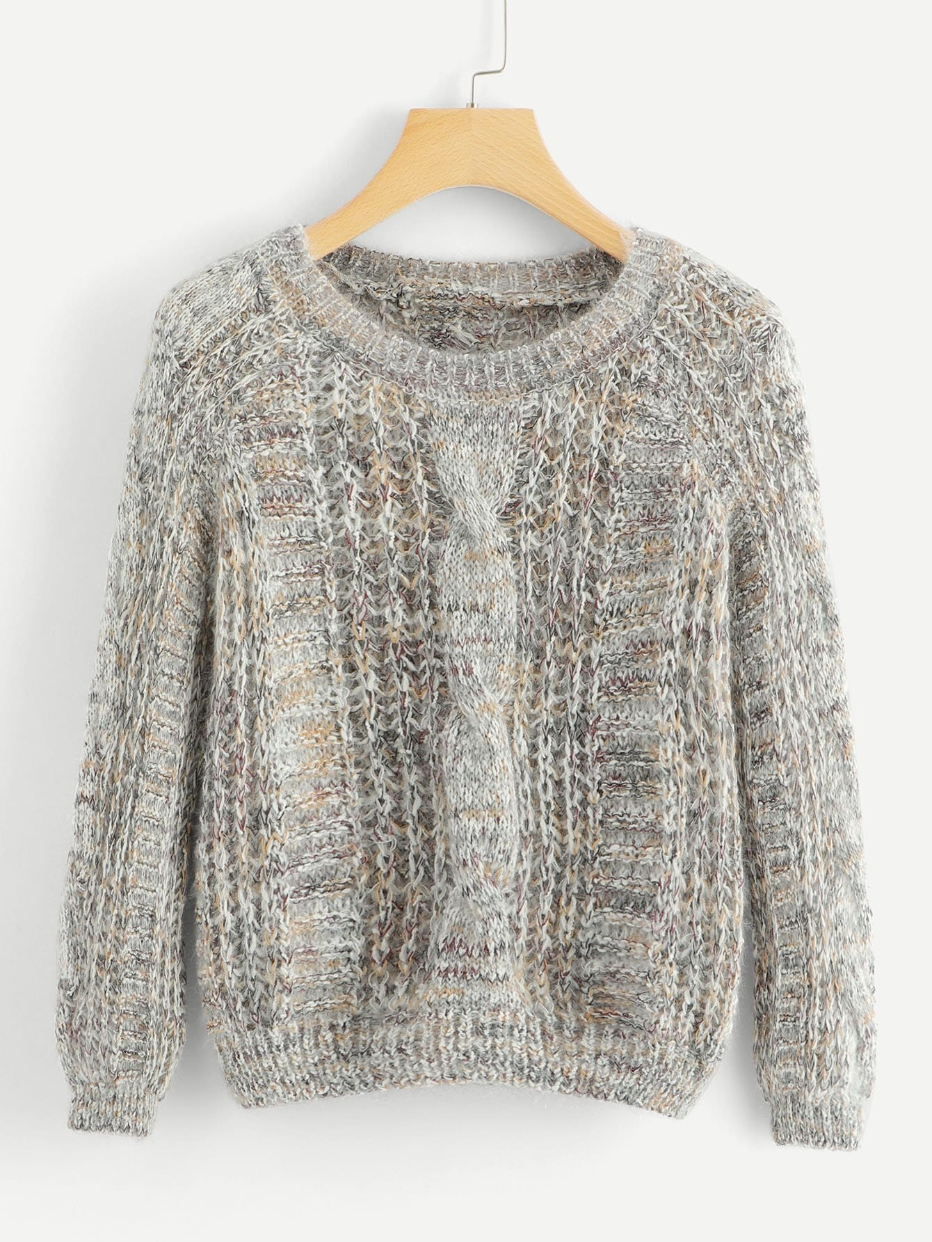 Cable Knit Multicoloured Sweater