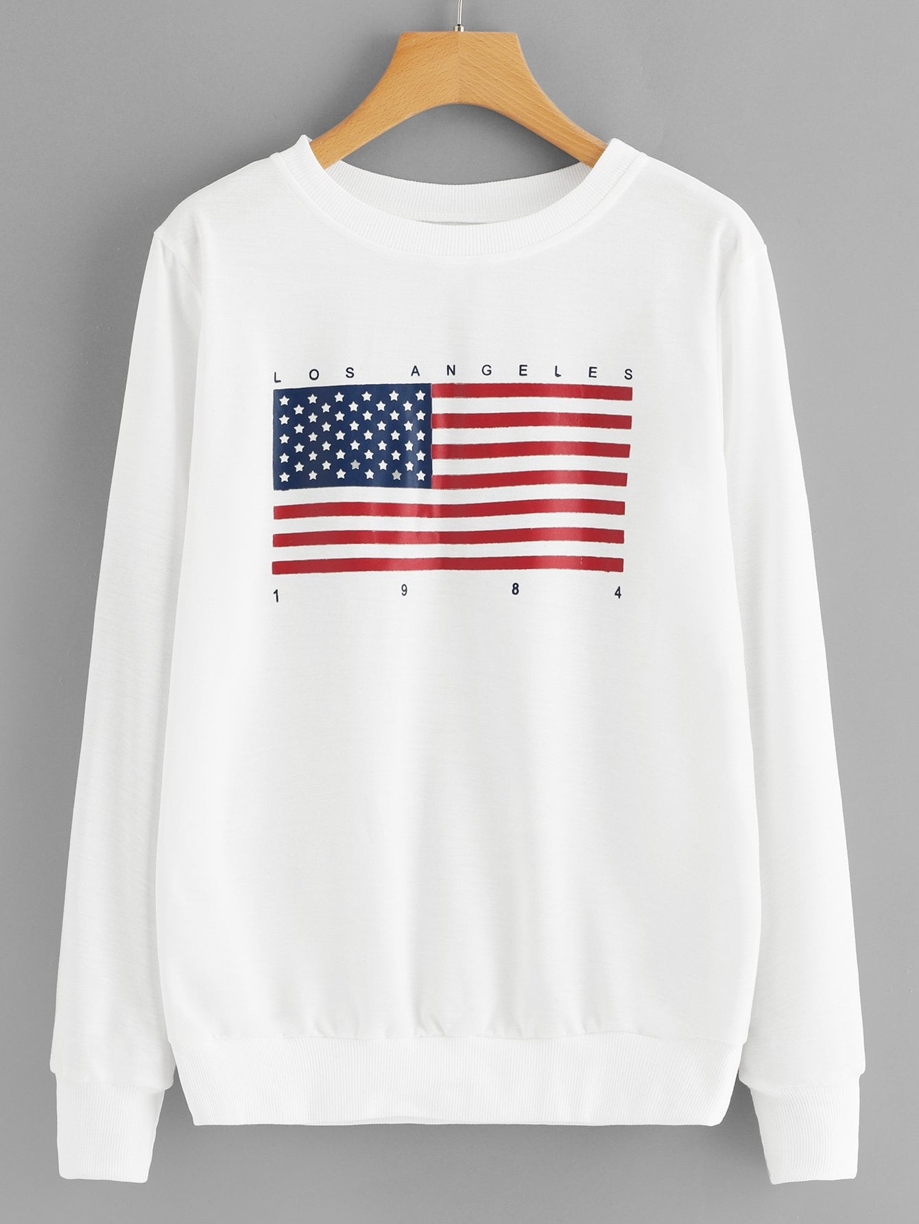 Повседневный Текст Пуловеры Белый Свитшоты