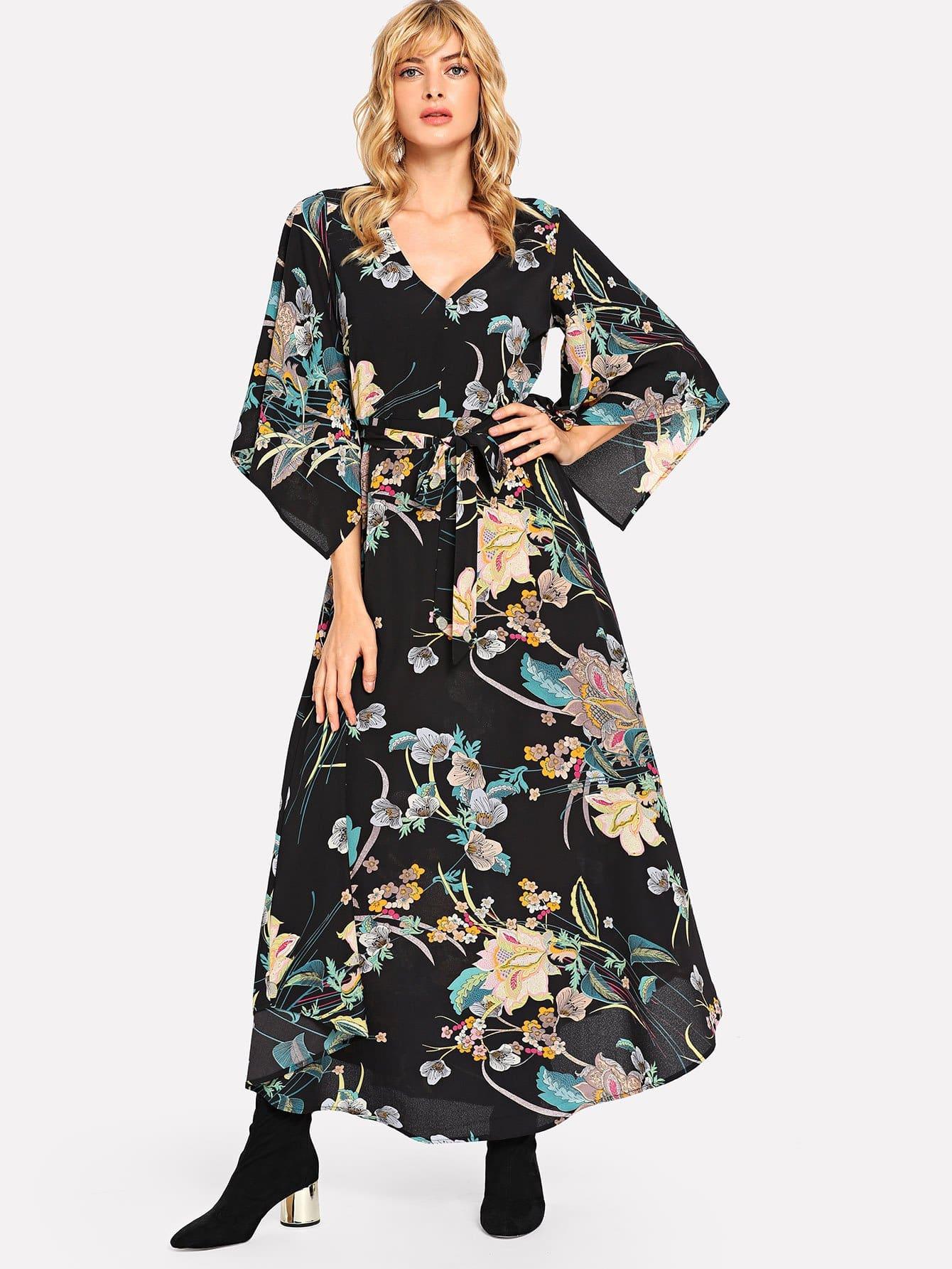 Купить Платье для ботанического плаката с трубой, Masha, SheIn