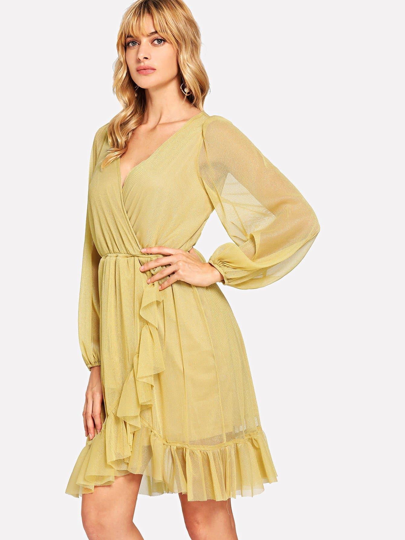 Купить Платье для обложки из епископа, Masha, SheIn