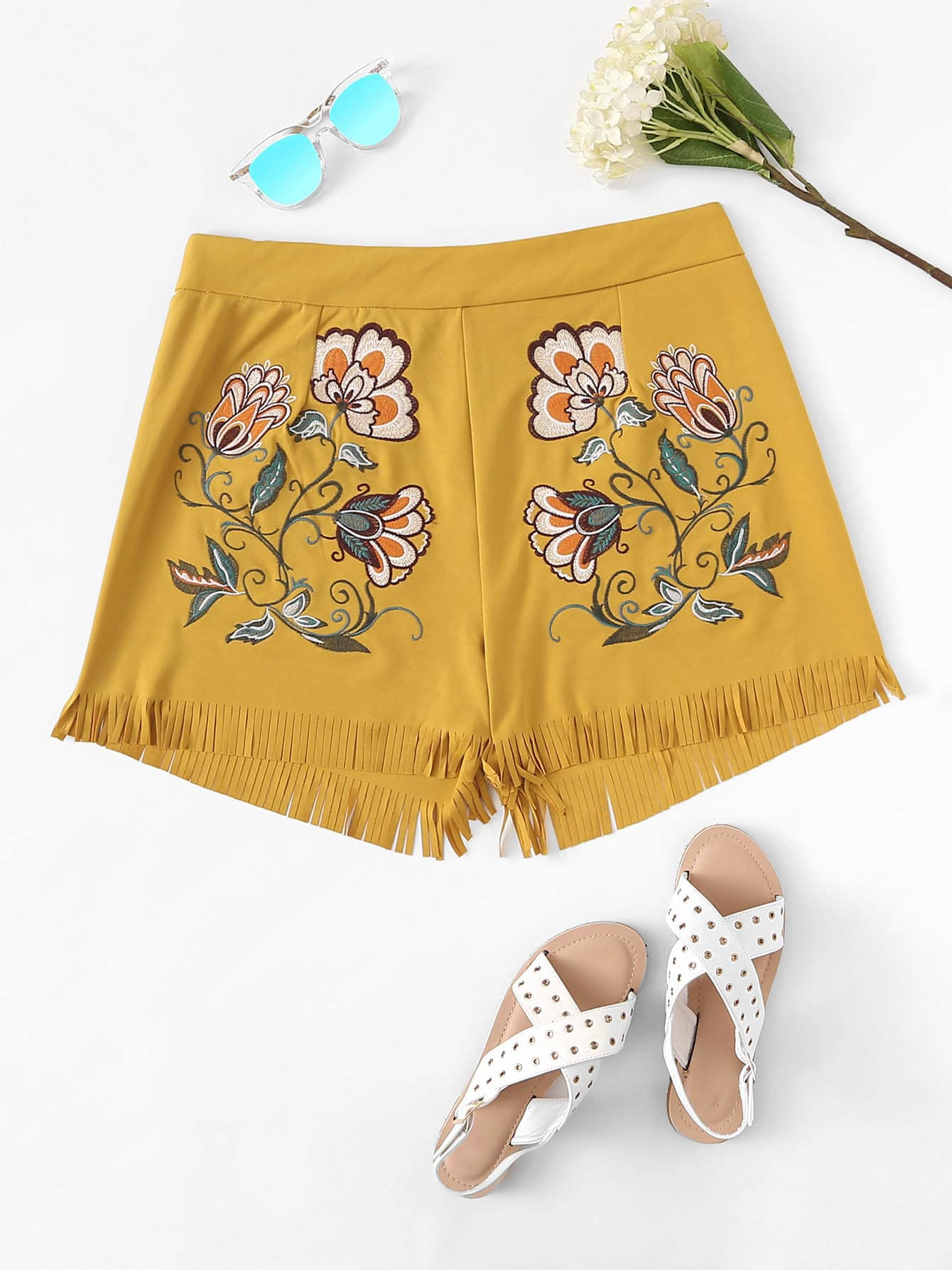 Plus Fringe Flower Print Shorts new original lenovo g570 g575 bottom base cover case palmrest upper case with touchpad hdmi