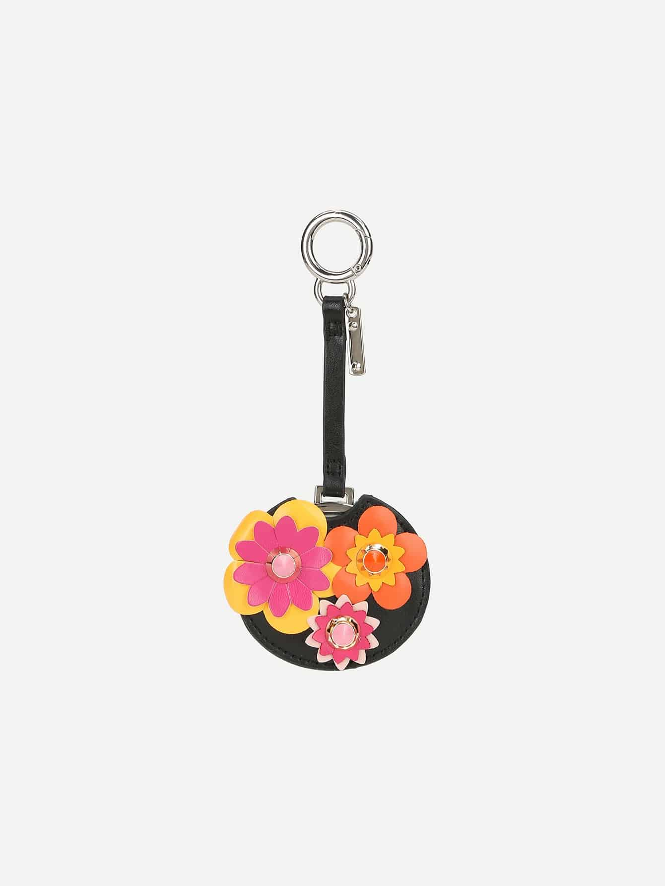 Flower Decorated Bag Accessory