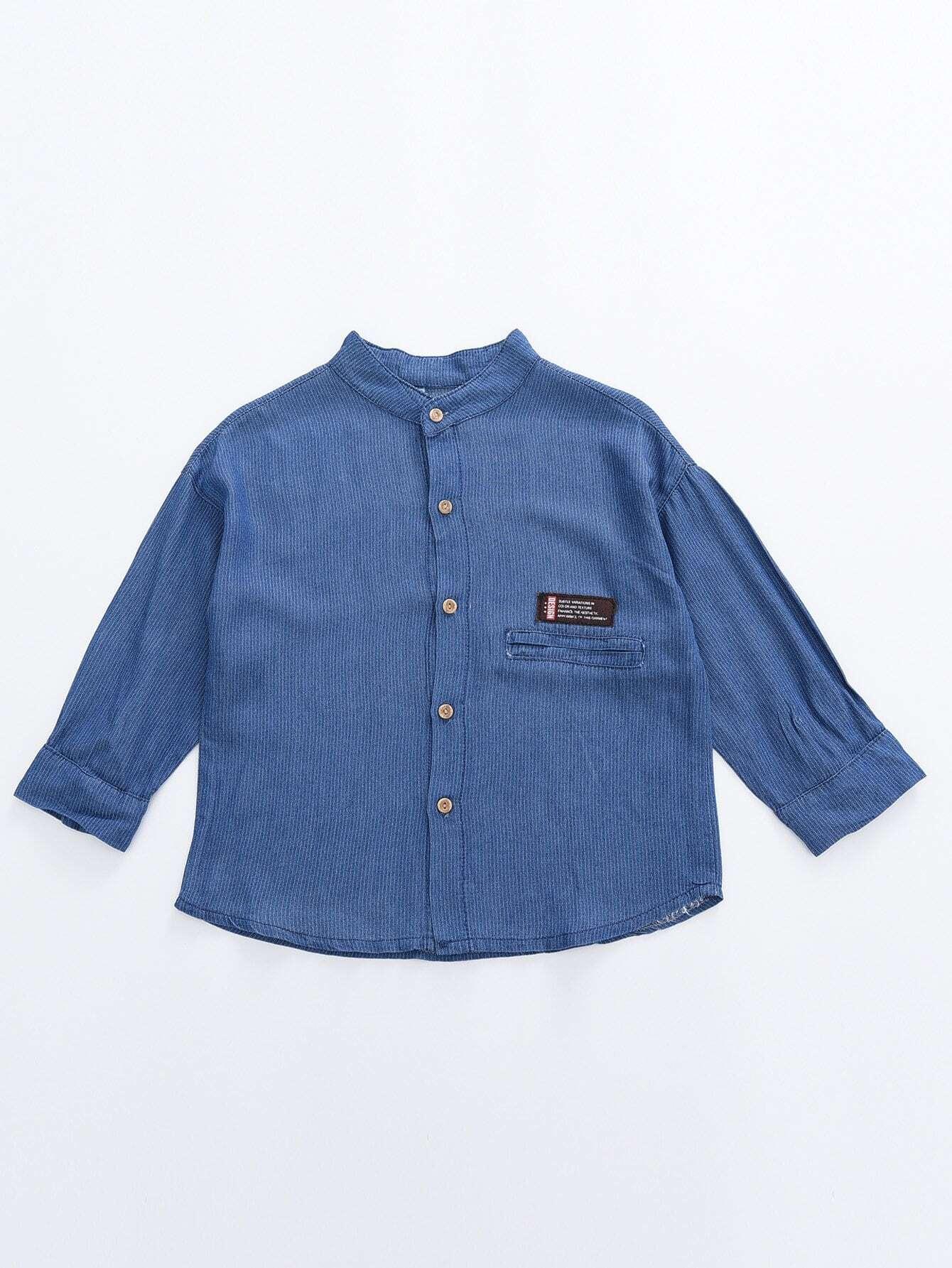 Мальчики Заделался Деталь Сплошной Рубашка