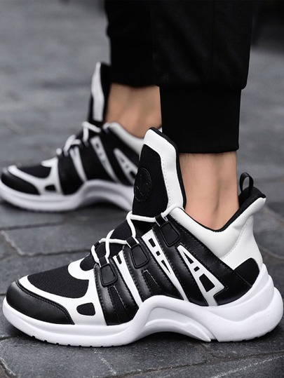 SheIn / Men Two Tone Chunky Sneakers