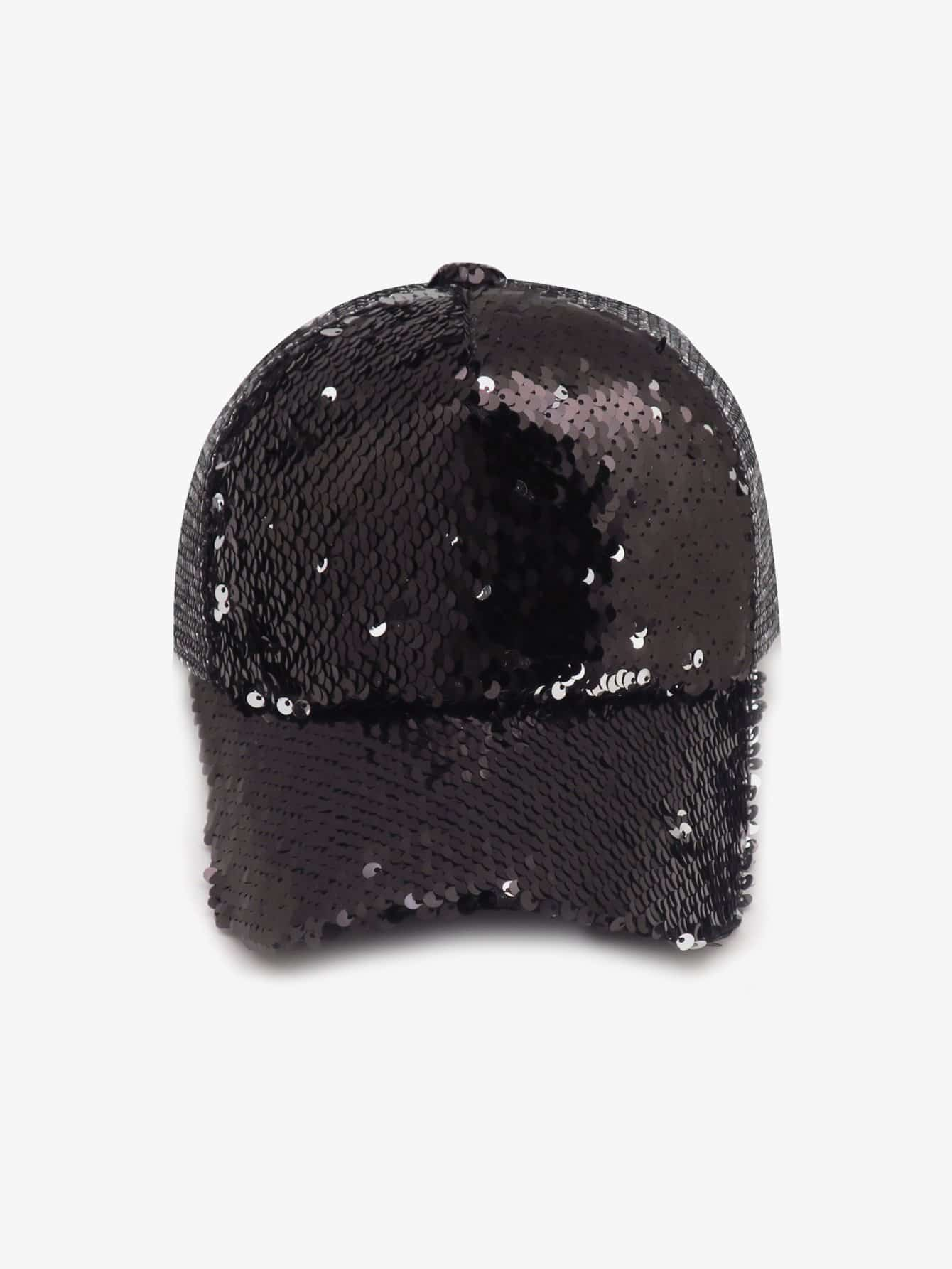 Girls Sequin Decorated Baseball Cap