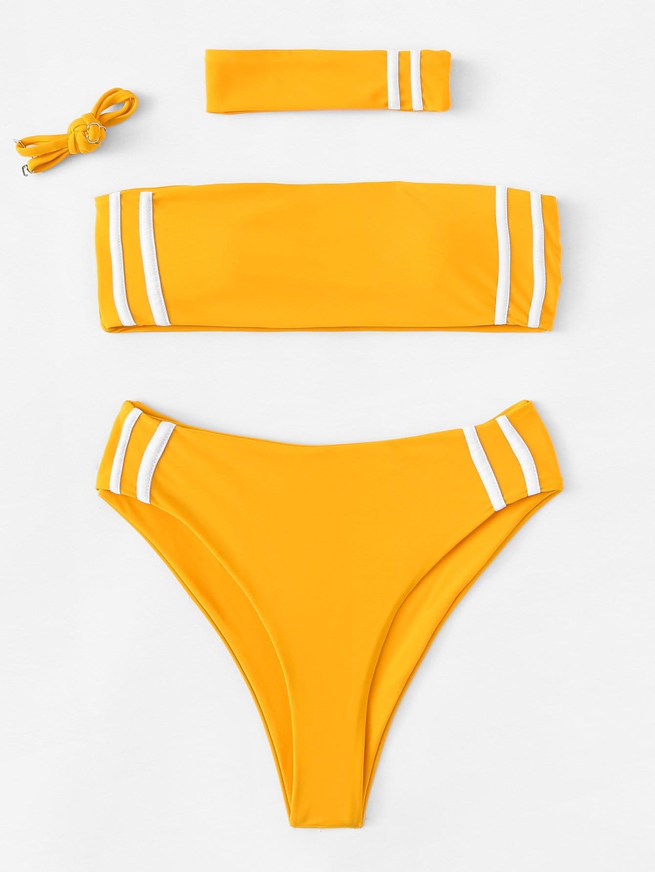 Bikini Set mit abnehmbaren Riemen und Halsband