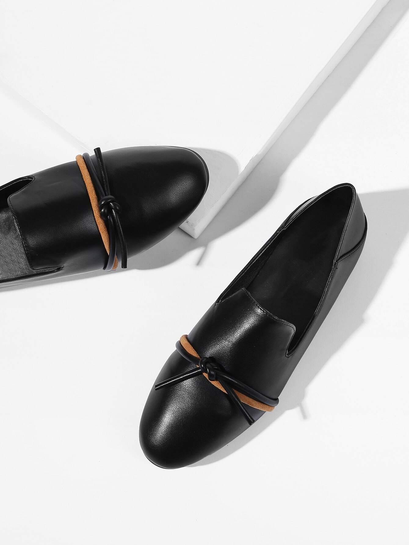 Купить Туфли на плоской подошве с украшением банта, null, SheIn