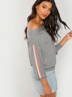 Rainbow Tuxedo Striped Sweater