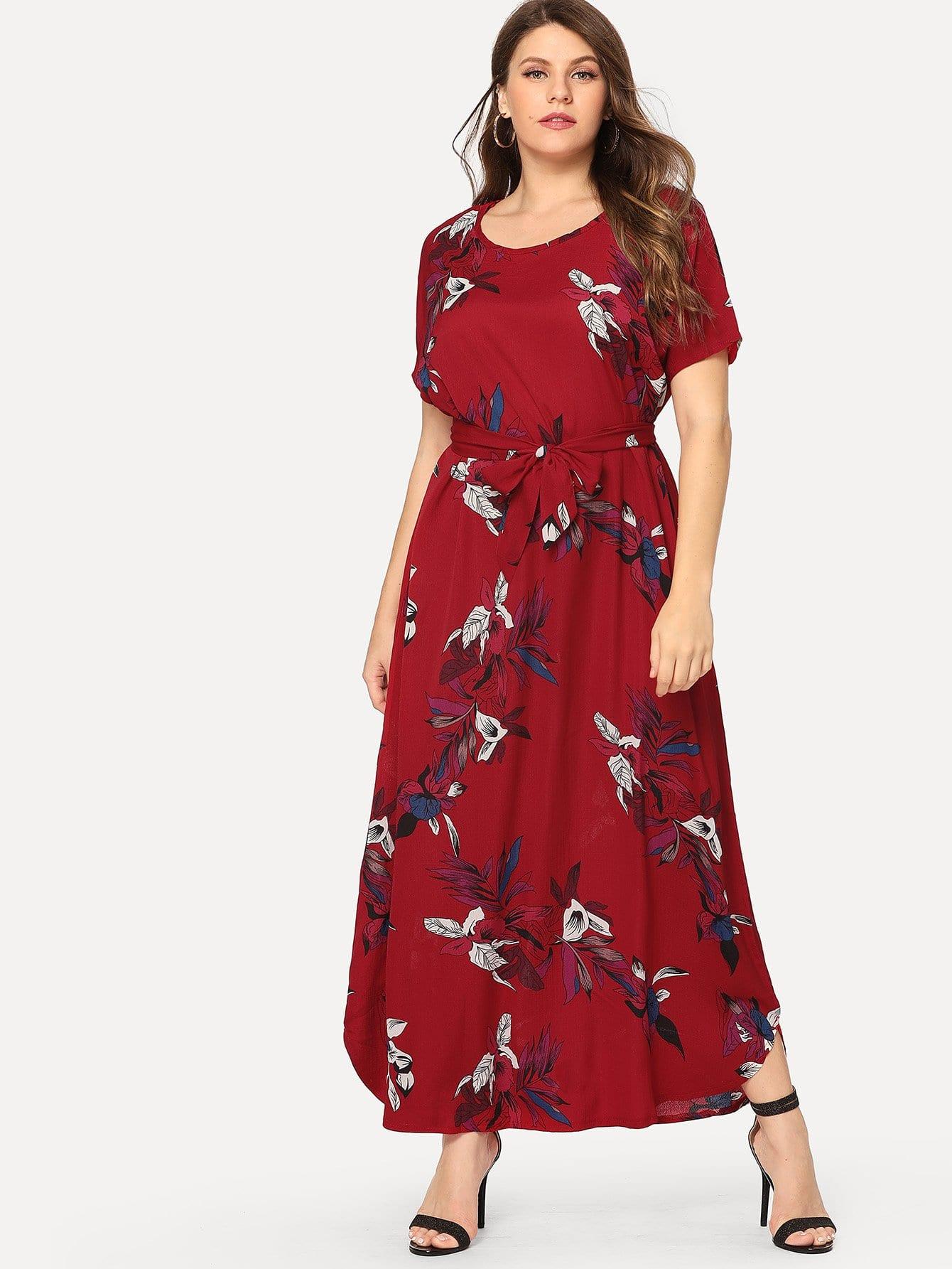 Большое ситцевое платье, Isabela, SheIn  - купить со скидкой