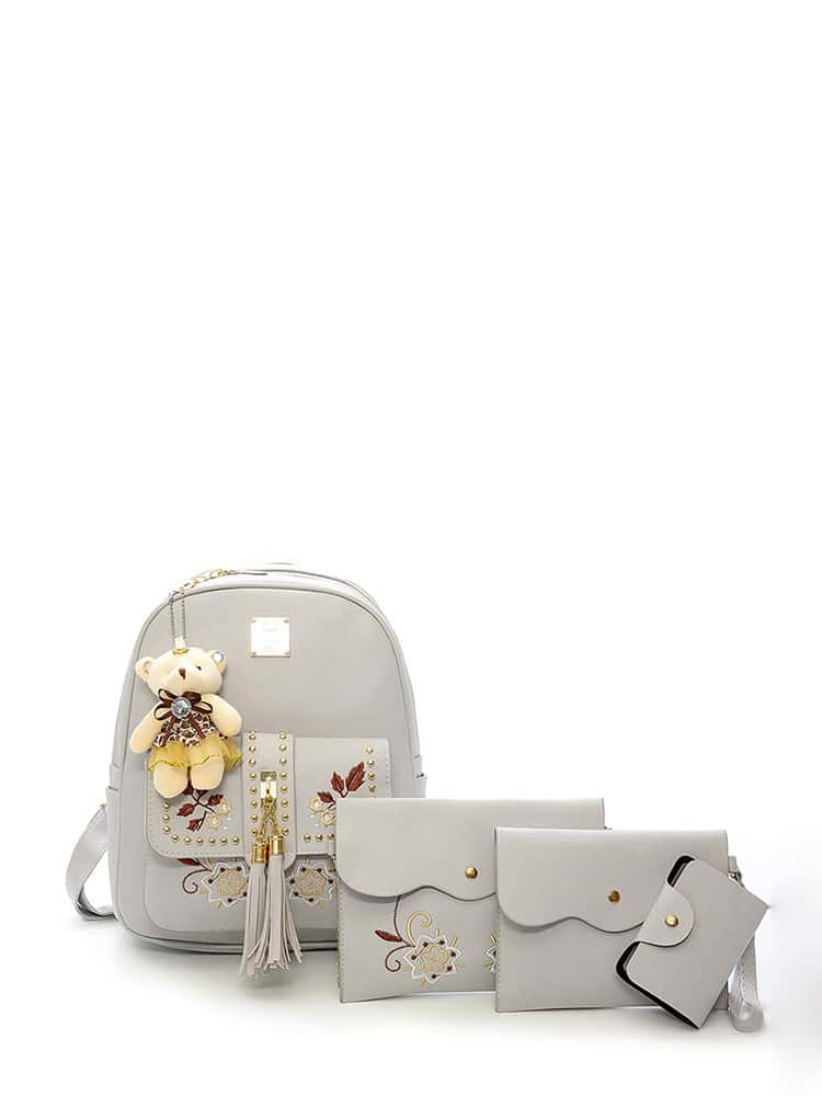 Купить Сумка с сумкой для кисточки с шармом 4pcs, null, SheIn