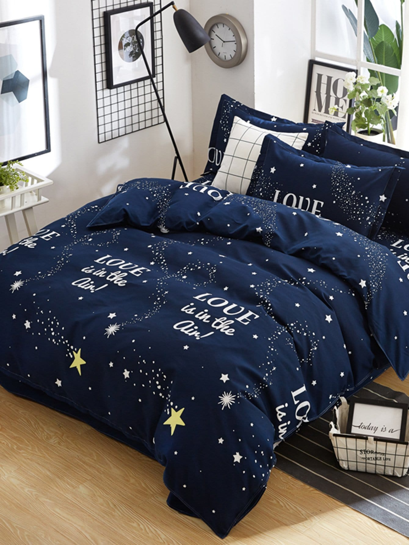 Купить Комплект постельного белья с рисунками звёздного неба, null, SheIn