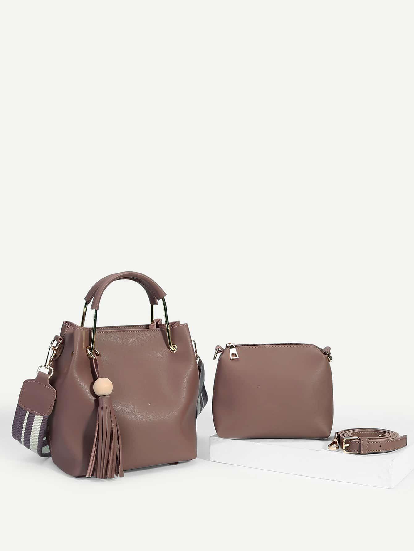 Купить Секционная сумка с украшением бахромы 2 шт, null, SheIn