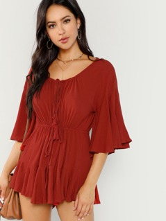 Shirred Detail Romper
