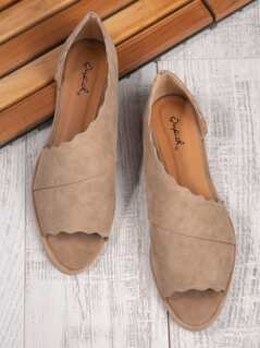 Scalloped Edged Slip Ons