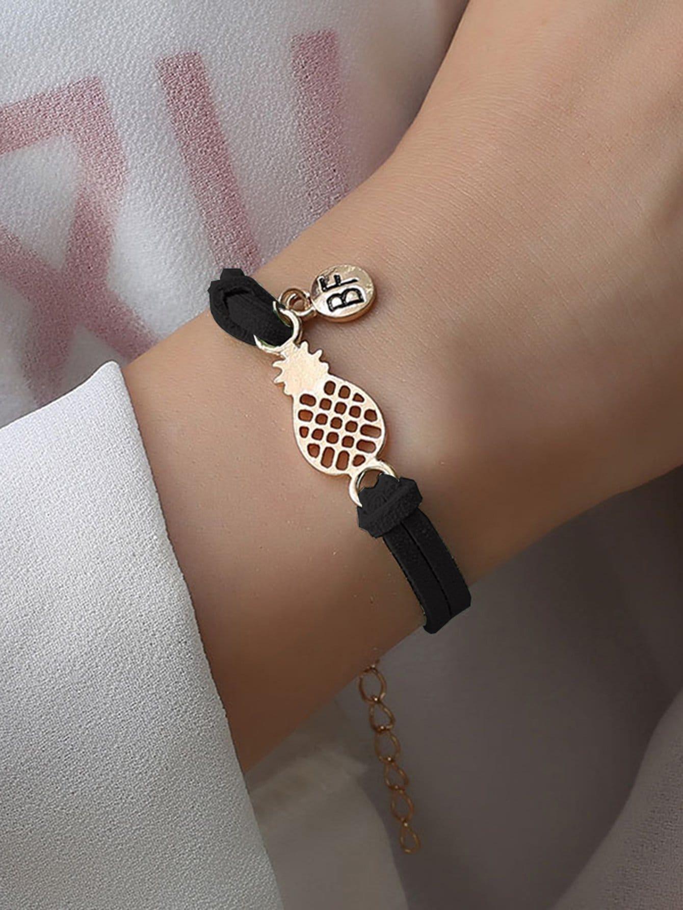 Hohle Ananas Detail Armband
