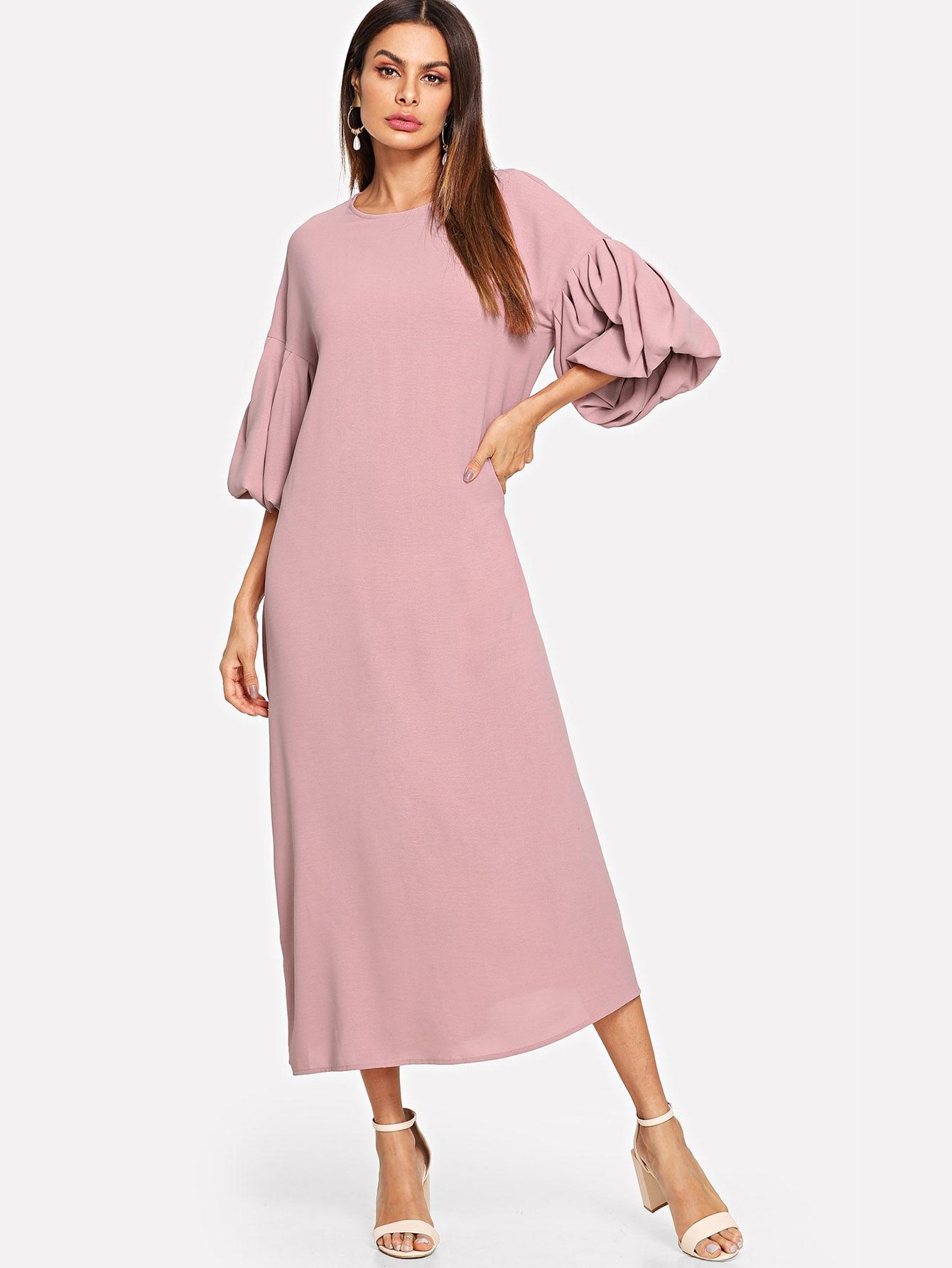 Купить Туника платье с фонарными рукавами, Andy, SheIn