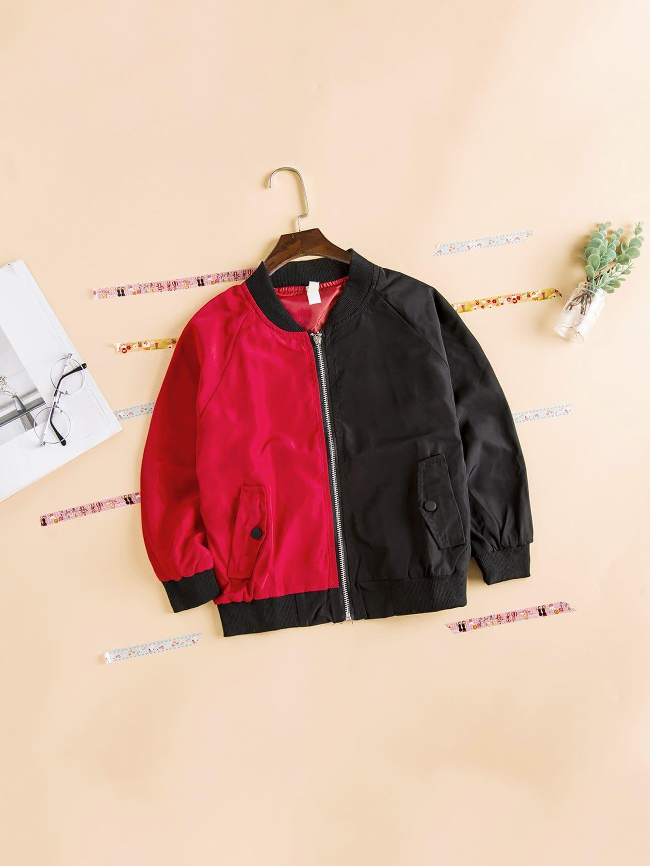 Девочки Коло Блока Письмо Печати Куртка