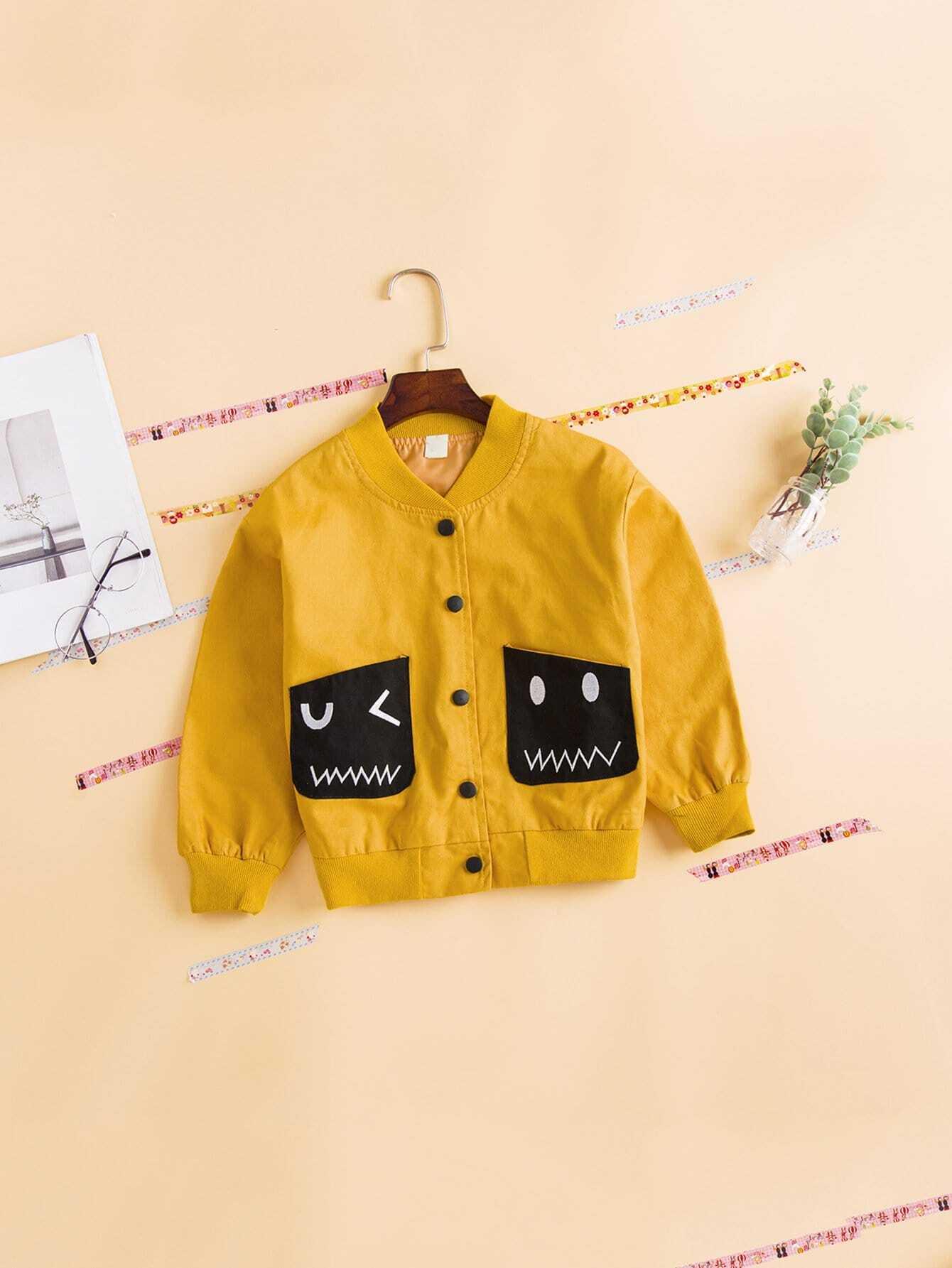 Girls Pocket Detail Jacket
