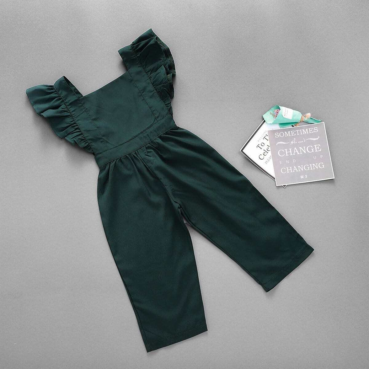 Комбинезон-сарафан с оборками для девочек от SHEIN