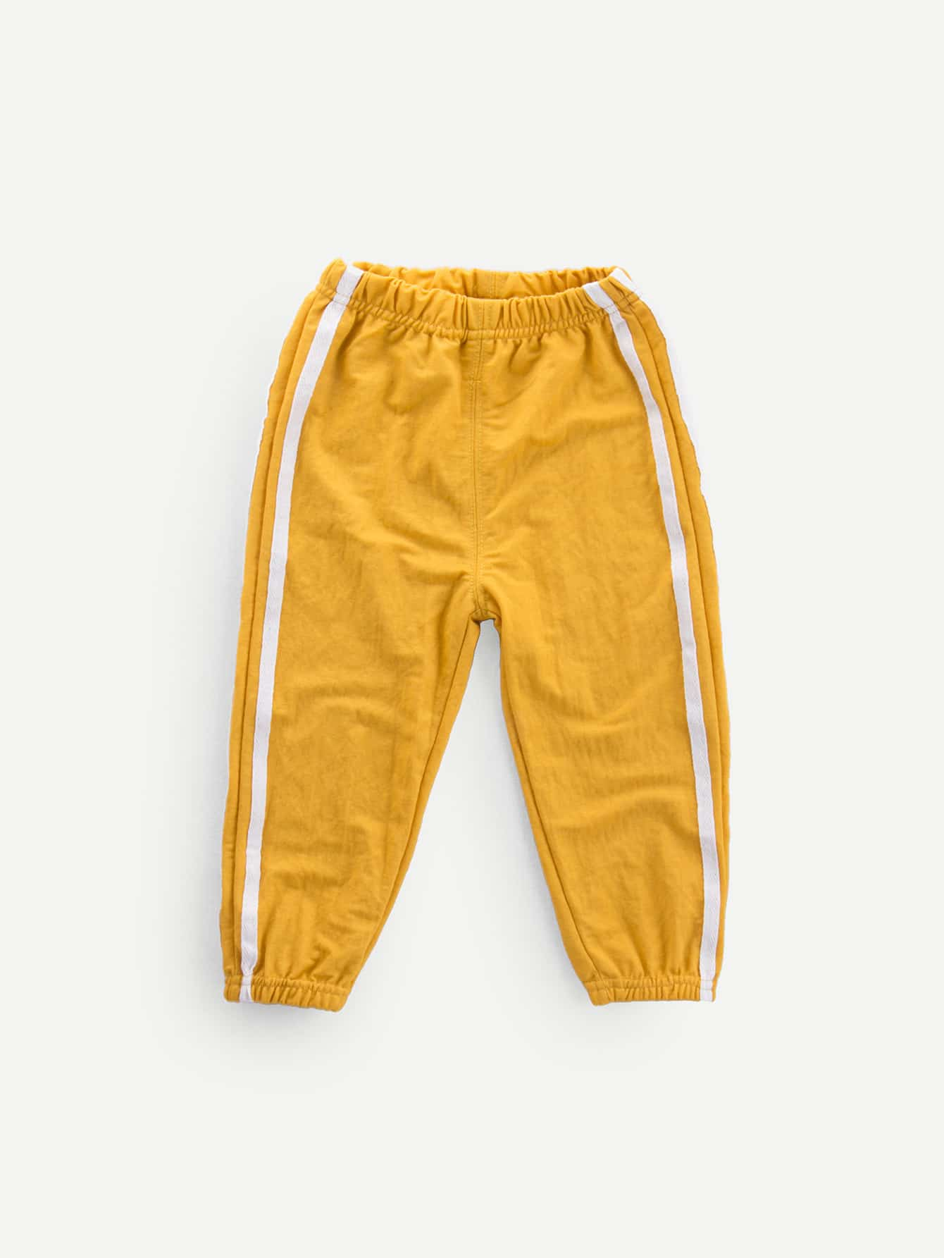 Girls Contrast Tape Side Pants