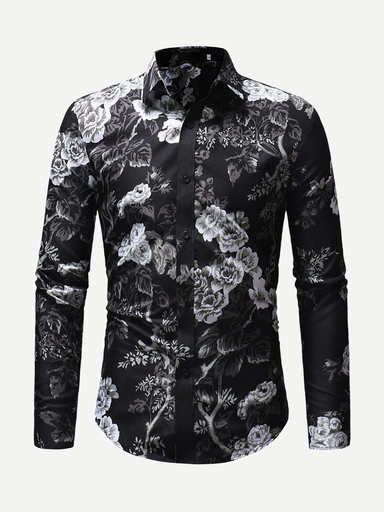 Men Allover Floral Print Shirt