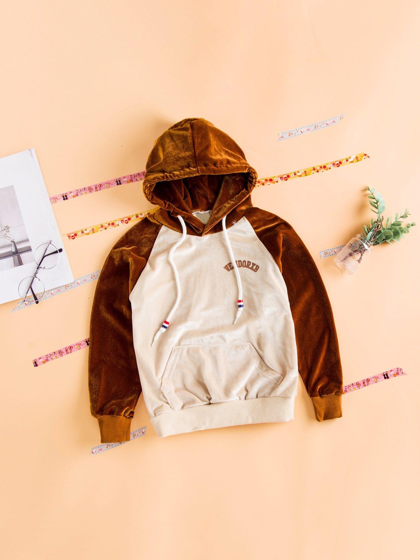 Купить Пуловер с рисунками буквы и со симметрическими рукавами Raglan для девочки, null, SheIn