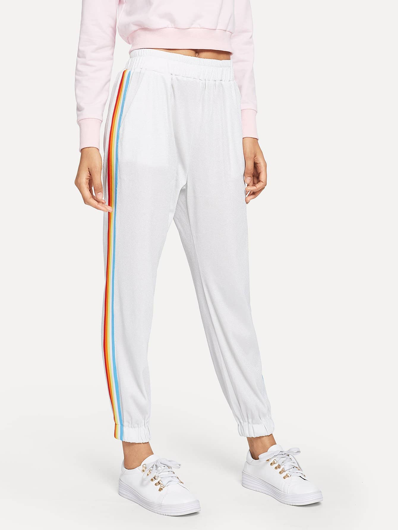 Rainbow Taped Side Pant