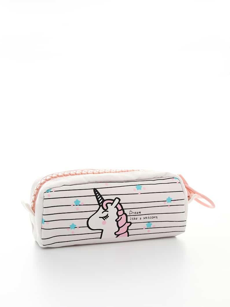 Unicorn Printed Pencil Case