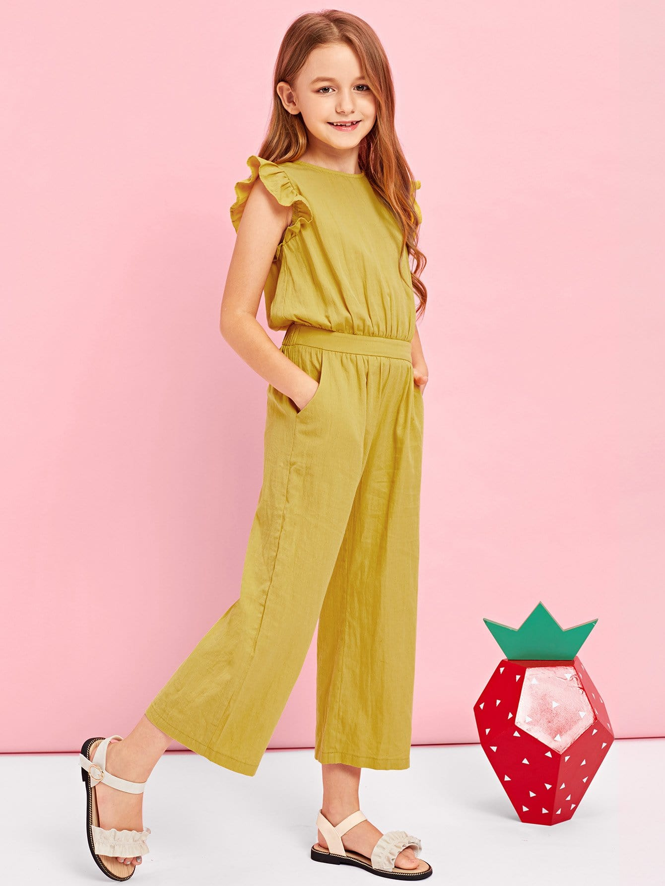 Girls Ruffle Armhole Button Back Jumpsuit 5pcs lot ti tps51117 51117 qfn step down controller